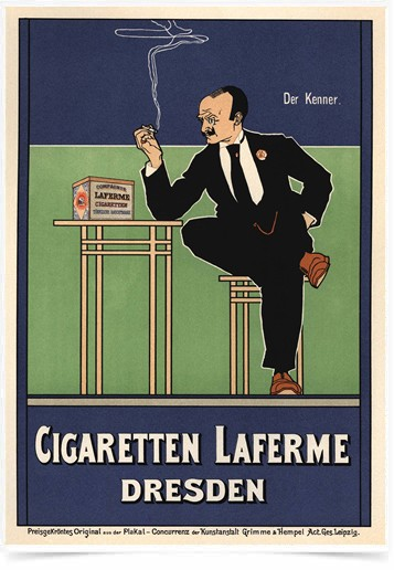 Poster The Belle Epoque Cigaretten Laferme