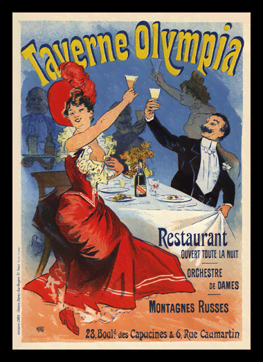 Quadro Poster The Belle Epoque Taverne Olympia