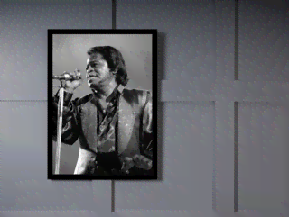 Quadro Poster Grandes Nomes da Musica James Brown 1 na internet