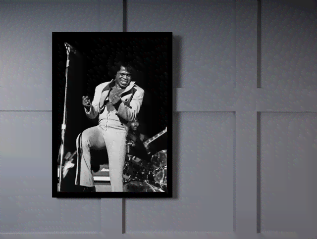 Quadro Poster Grandes Nomes da Musica James Brown 2 na internet