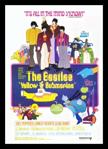 Quadro Poster Cinema Filme Yellow Submarine