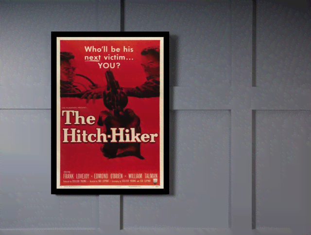Quadro Poster Cinema Filme The Hitch Hiker na internet