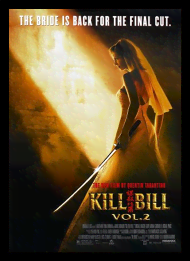 Quadro Poster Cinema Filme Kill Bill Vol 2