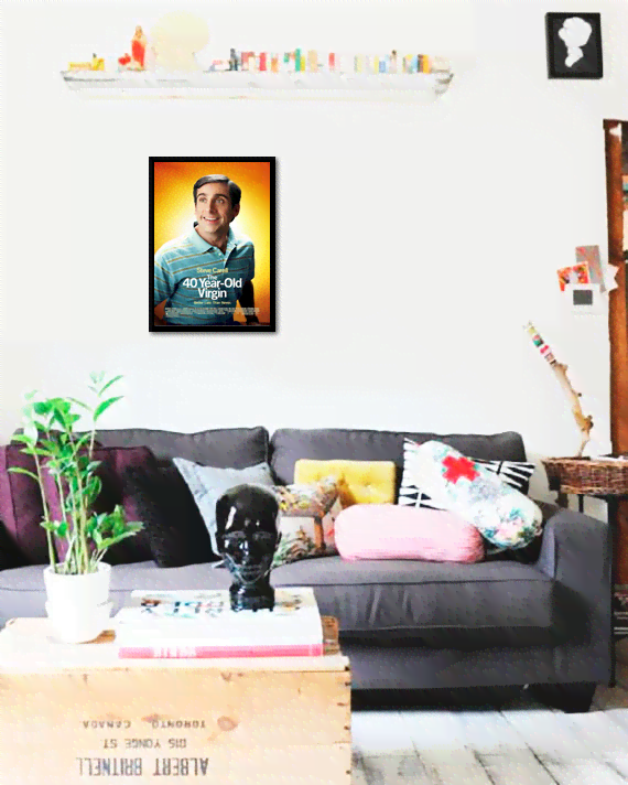 Quadro Poster Cinema Filme 40 Year Old Virgin - comprar online