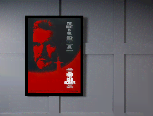 Quadro Poster Cinema Filme The Hunt For Red October na internet