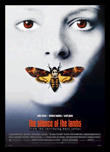 Quadro Poster Cinema Filme The Silence of The Lambs