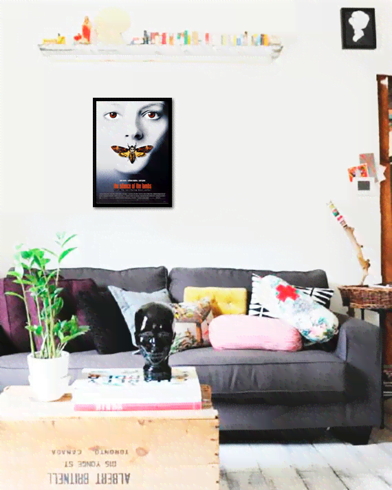 Quadro Poster Cinema Filme The Silence of The Lambs - comprar online