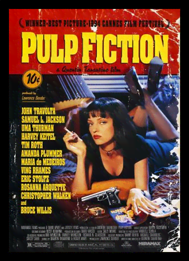 Quadro Poster Cinema Filme Pulp Fiction