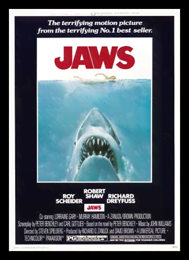 Quadro Poster Cinema Filme Jaws