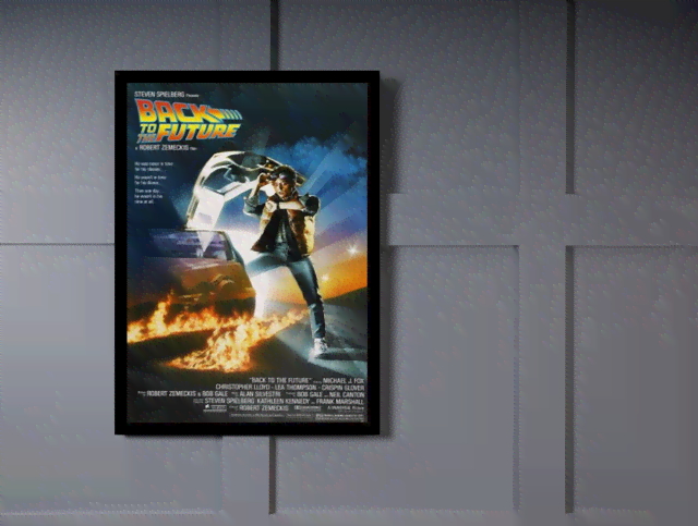 Quadro Poster Cinema Filme Back to the Future na internet