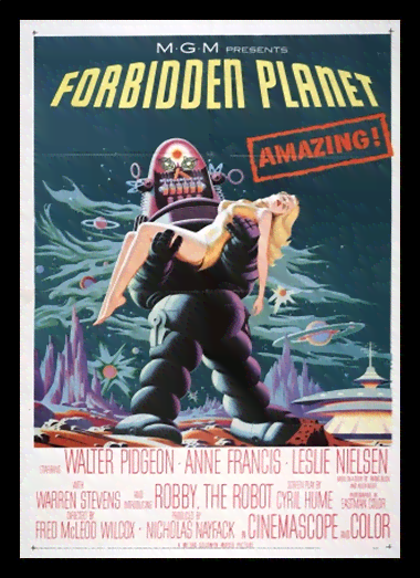 Quadro Poster Cinema Filme Forbidden Planet