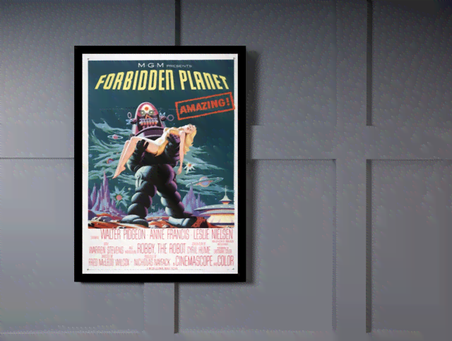 Quadro Poster Cinema Filme Forbidden Planet na internet