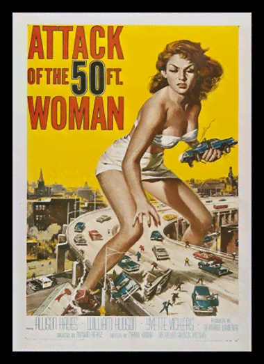 Quadro Poster Cinema Filme Attack of the 50ft Woman