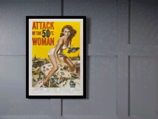 Quadro Poster Cinema Filme Attack of the 50ft Woman na internet