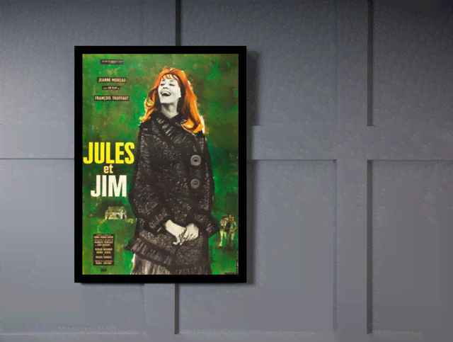Quadro Poster Cinema Filme Jules et Jim na internet