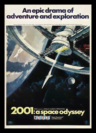 Quadro Poster Cinema Filme 2001 A Space Odyssey 1