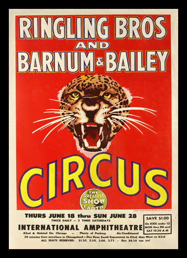 Quadro Poster Cinema Barnum e Bailey