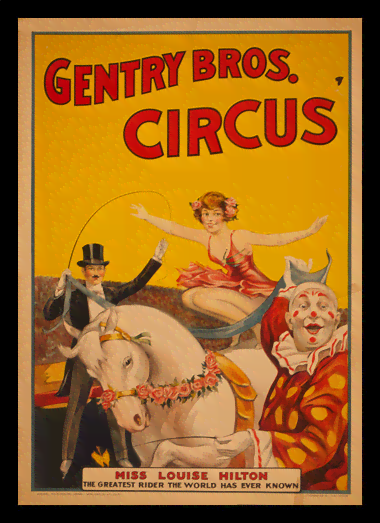 Quadro Poster Cinema Gentry Bros Circus