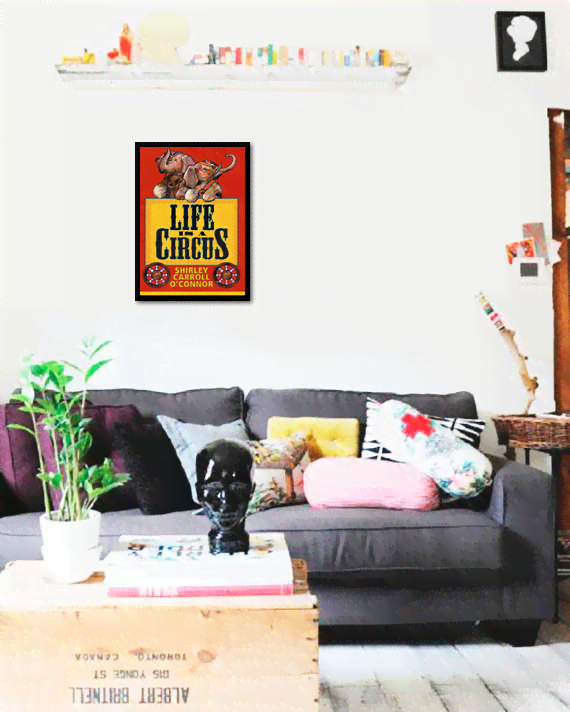 Quadro Poster Cinema Life is a Circus - comprar online
