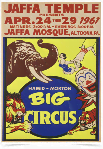 Poster Cinema Hamid Morton Big Circus