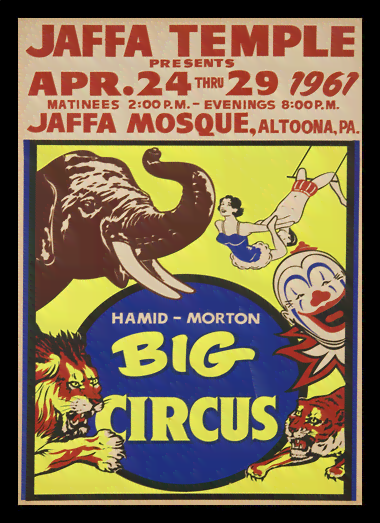Quadro Poster Cinema Hamid Morton Big Circus