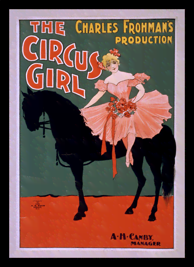 Quadro Poster Cinema The Circus Girl