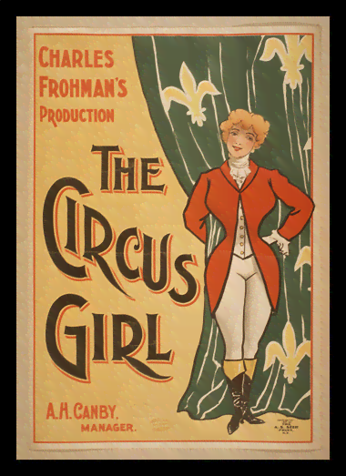Quadro Poster Cinema The Circus Girl Frohmas