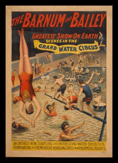 Quadro Poster Cinema Grand Water Circus
