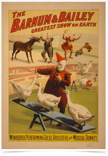 Poster Propaganda The Barnum e Bailey