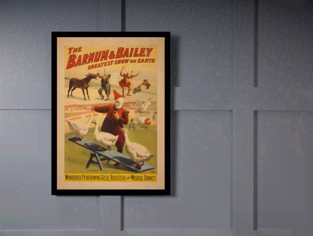 Quadro Poster Cinema The Barnum e Bailey na internet