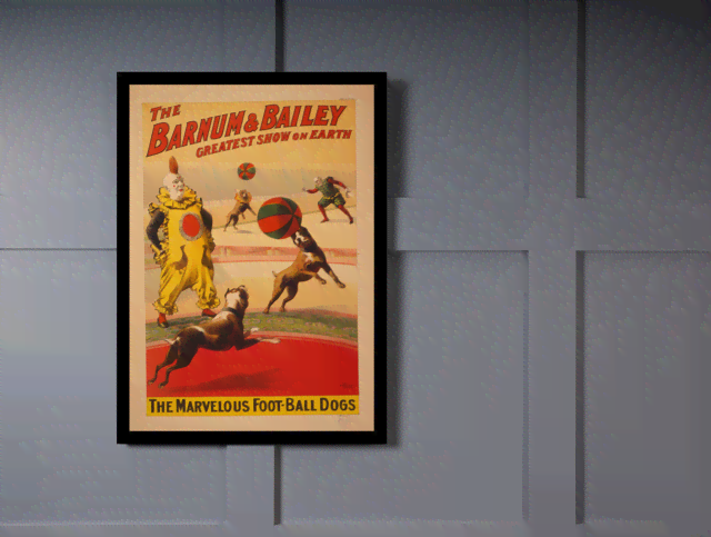 Quadro Poster Cinema The Barnum e Bailey Dogs na internet