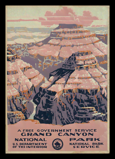 Quadro Poster Propaganda Grand Canyon