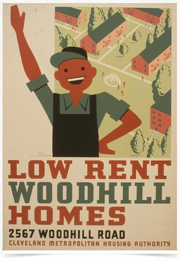 Poster Propaganda Low Rent Woodhill