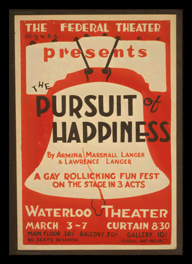 Quadro Poster Propaganda Pursuit of Happiness