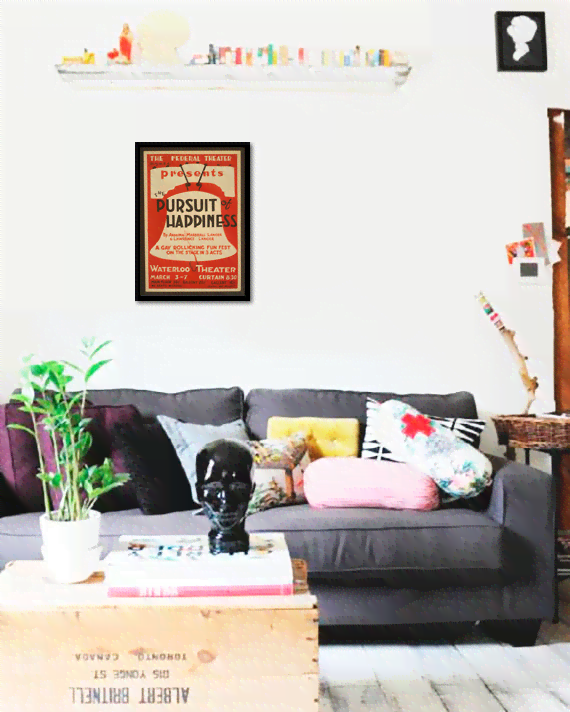 Quadro Poster Propaganda Pursuit of Happiness - comprar online