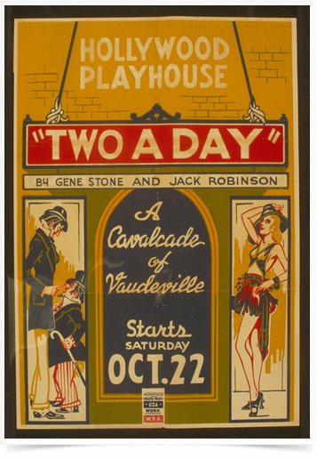Poster Propaganda Hollywood Playhouse