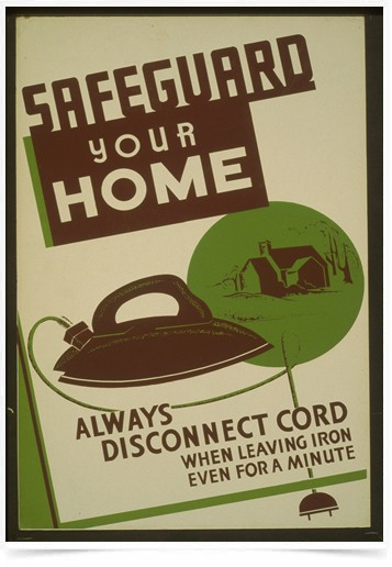 Poster Propaganda Safeguard Your Home