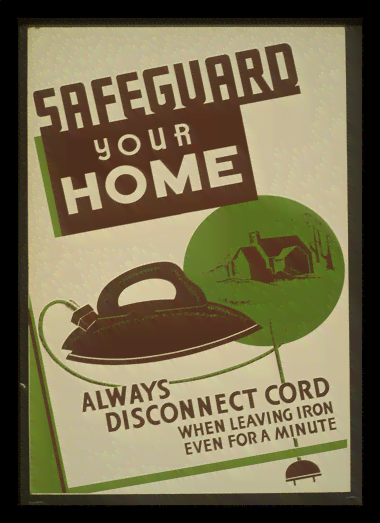 Quadro Poster Propaganda Safeguard Your Home