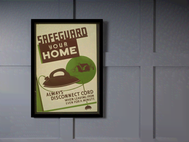 Quadro Poster Propaganda Safeguard Your Home na internet