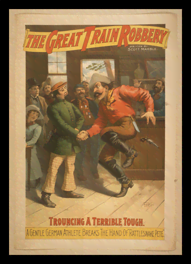 Quadro Poster Propaganda The Great Train Robbery 1