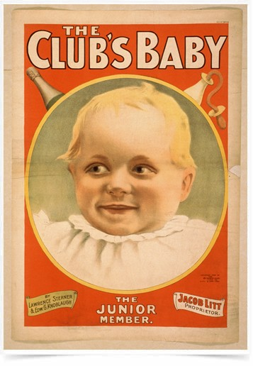 Poster Propaganda The Clubs Baby