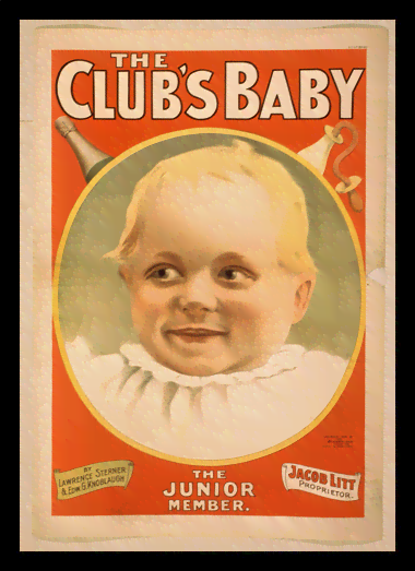 Quadro Poster Propaganda The Clubs Baby