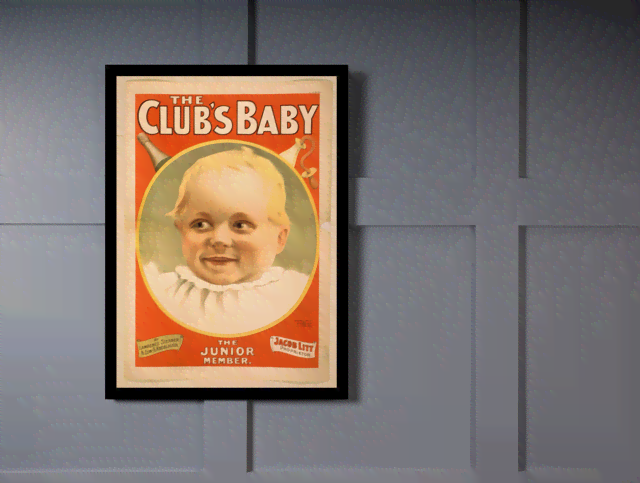 Quadro Poster Propaganda The Clubs Baby na internet