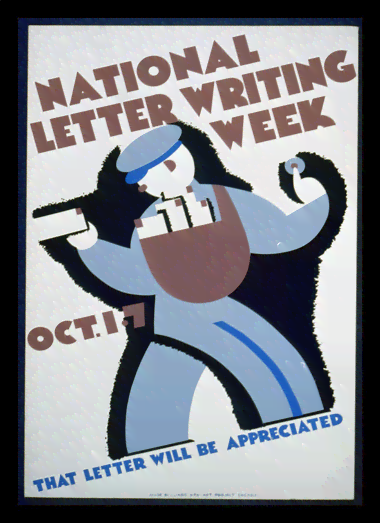 Quadro Poster Propaganda National Letter Writing Week