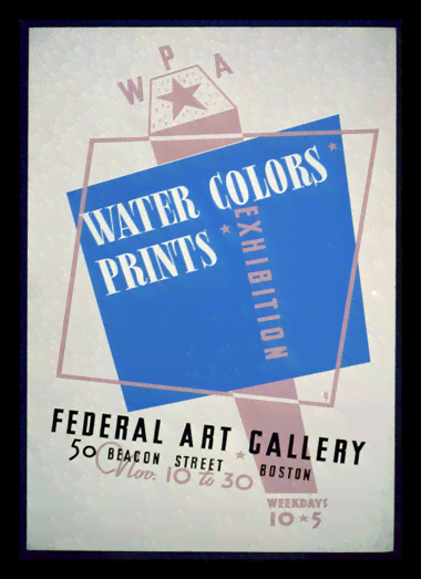 Quadro Poster Propaganda Water Colors Prints