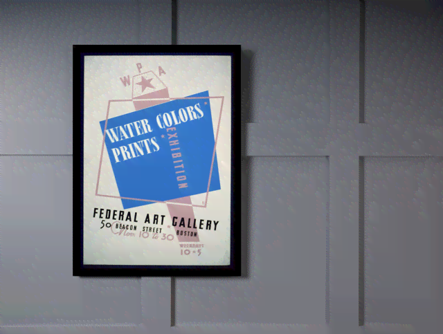 Quadro Poster Propaganda Water Colors Prints na internet