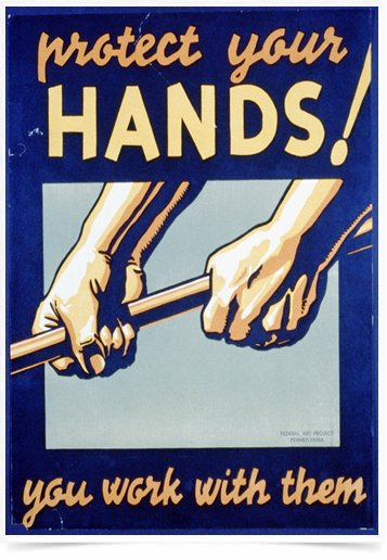 Poster Propaganda Protect Your Hands