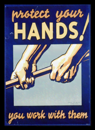 Quadro Poster Propaganda Protect Your Hands
