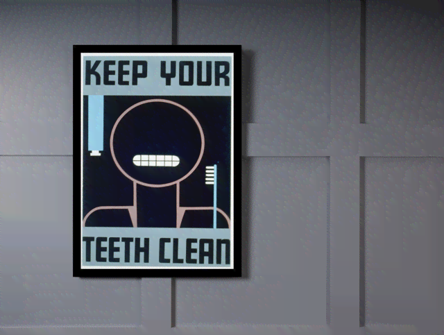 Quadro Poster Propaganda Keep Your Teeth Clean na internet