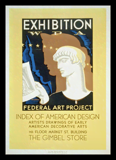 Quadro Poster Propaganda Federal Art Project American Design